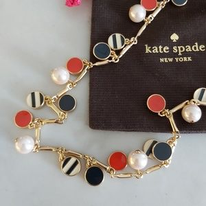 ♠️ KATE SPADE ♠️ pearl gold red and black necklace